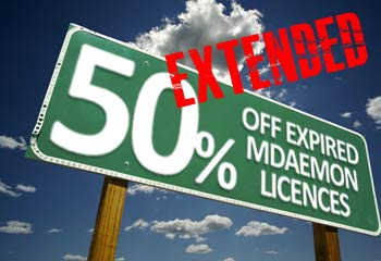 MDaemon promotion extended
