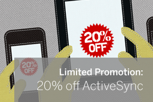20% off ActiveSync