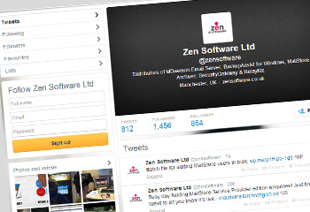 Zen Software's Twitter page