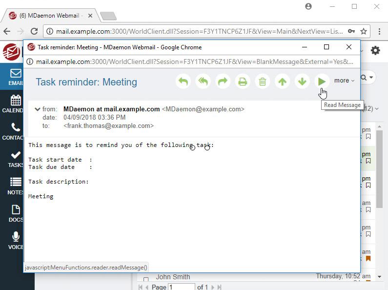 Text-to-speech (Webmail)